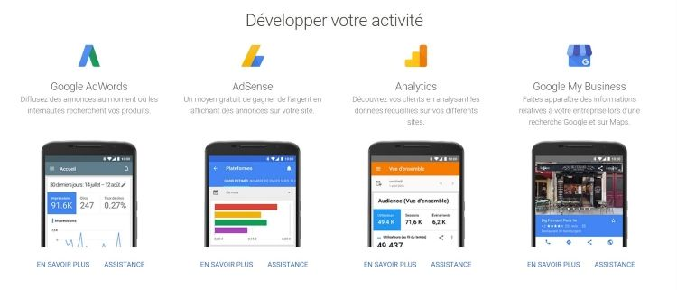 Google AdWords : Types de campagnes
